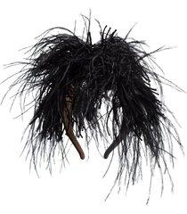 loewe slip-on feather headband - black