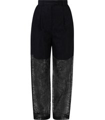msgm lace trousers