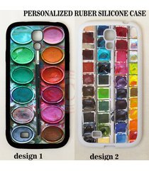 new paint box palette water color rubber case cover for samsung galaxy s8 note 8
