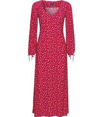 d1. desert rose viscose dress knälång klänning rosa gant