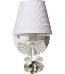 arandela 1 lâmpada flor potinho de mel branca