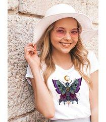 koszulka organiczna z nadrukiem butterfly skull