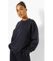 gerecyclede sweater, navy