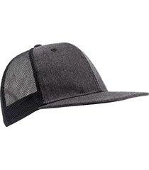 gorra gris topper cap flat mesh