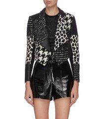 'harvey' patchwork splicing jacket
