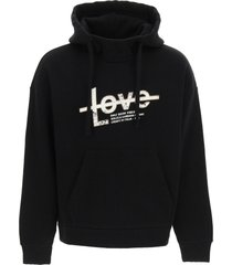 dolce & gabbana only good vibes print hoodie