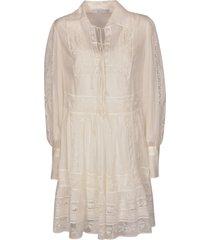 ermanno scervino lace paneled dress