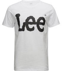 logo tee white t-shirts short-sleeved vit lee jeans