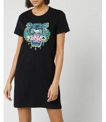 kenzo women's classic tiger t-shirt dress - black - xs