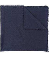 bally frayed midi scarf - blue