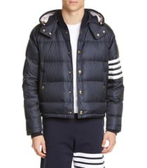 men's thom browne quilted down bomber jacket