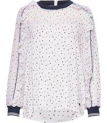 nuailish blouse blus långärmad vit nümph