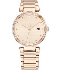 tommy hilfiger women's carnation gold-tone stainless steel bracelet watch 32mm