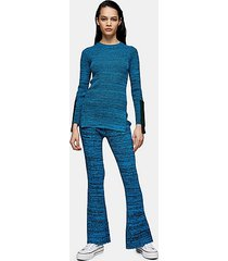 *knitted flared pants by topshop boutique - multi