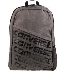 mochila gris converse speed backpack