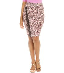thalia sodi lace-trim leopard-print skirt, created for macy's