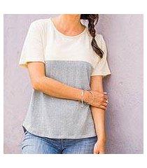 natural cotton top, 'cloud whisper' (guatemala)