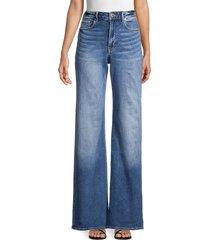 true religion women's high-rise wide-leg jeans - blue - size 25 (2)