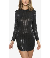 b darlin juniors' sequined bodycon dress & face mask