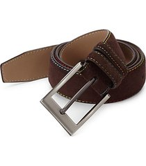 belden exposed seam suede belt