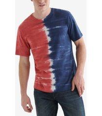 lucky brand men's tie dye crew knit t-shirt