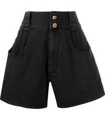 alessandra rich flared style shorts - black