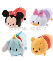tsum tsum plush pencil case minnie mickey donald stitch mike sully piglet bag