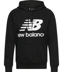 essentials pullover hoodie hoodie trui zwart new balance