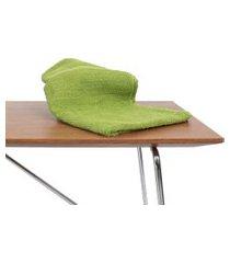 kit 12 toalha de rosto para salao de beleza, spas verde algodão
