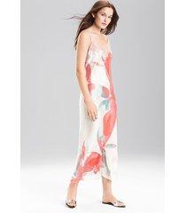 hibiscus gown, women's, 100% silk, size s, josie natori