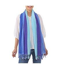 cotton scarves, 'seaside breeze' (pair) (thailand)