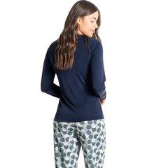 pijama longo estampado vic