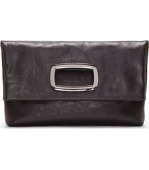 marti large leather clutch