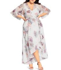 plus size women's city chic rose bella maxi wrap dress