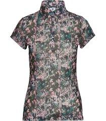 kira mesh cap/s polo shirt t-shirts & tops polos multi/mönstrad daily sports