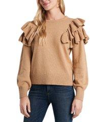 1.state ruffle sleeve sweater