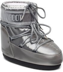 mb classic low glance shoes boots ankle boots ankle boot - flat silver moon boot