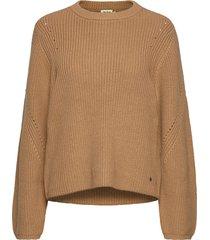 abby sweater gebreide trui bruin twist & tango