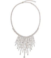 cristabelle fringe statement necklace in cry/sil at nordstrom