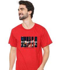 camiseta sandro clothing movement vermelho - vermelho - masculino - dafiti