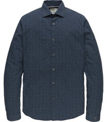 cast iron csi208200 5288 long sleeve shirt print on poplin stretch blue