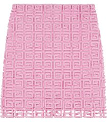 givenchy 4g guipurelace skirt