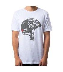 camiseta omg skate helmet masculina