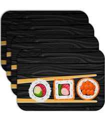 jogo americano - love decor   sushi kit com 6 peã§as - multicolorido - dafiti