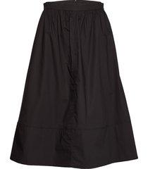 phoebe hw midi skirt knälång kjol svart second female
