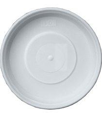 prato em plástico para vaso 12cm branco