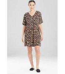 natori ombre leopard tunic caftan, luxury caftans for women, size l