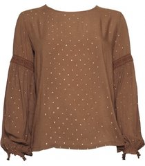 20 to a9343 076 blouse - pois lurex tabacco bruin