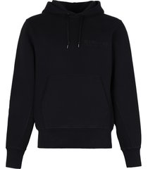 helmut lang printed cotton hoodie
