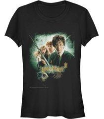 fifth sun harry potter chamber of secrets ron harry hermione dobby poster women's short sleeve t-shirt